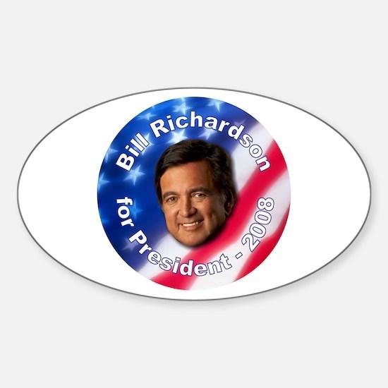 """Bill Richardson 2008"" Oval Decal"