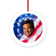 """Bill Richardson 2008"" Ornament (Round)"