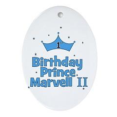 CUSTOM - 1st Birthday Prince Oval Ornament