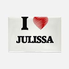I Love Julissa Magnets