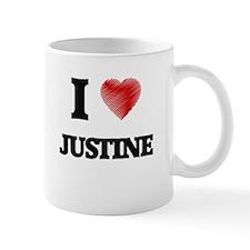 I Love Justine Mugs