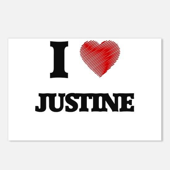 I Love Justine Postcards (Package of 8)