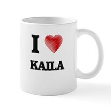 I Love Kaila Mugs