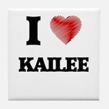 I Love Kailee Tile Coaster