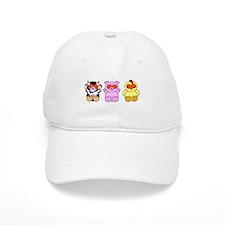 Halloween Cow, Pig & Chicken Baseball Cap