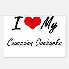 I love my Caucasian Ovcha Postcards (Package of 8)