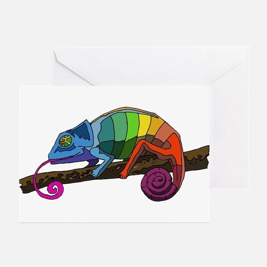 Rainbow Chameleon Greeting Cards (Pk of 10)