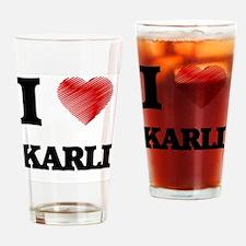 I Love Karli Drinking Glass