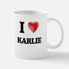 I Love Karlie Mugs