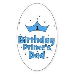 CUSTOM - 1st Birthday Prince' Oval Decal