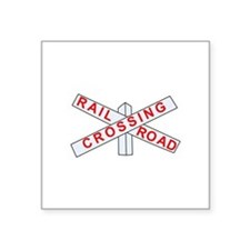 "Cute Railway Square Sticker 3"" x 3"""
