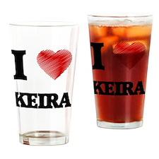 I Love Keira Drinking Glass