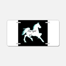 Step Right Up! Show Horse Aluminum License Plate
