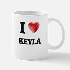 I Love Keyla Mugs