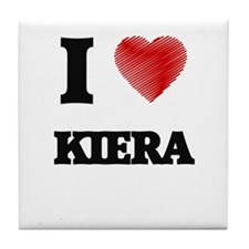 I Love Kiera Tile Coaster