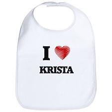I Love Krista Bib