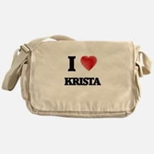 I Love Krista Messenger Bag