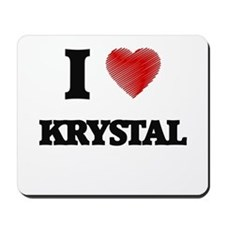 I Love Krystal Mousepad