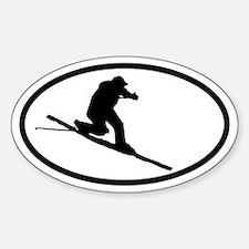 Telemarker Oval Bumper Stickers