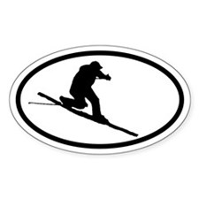 Telemarker Oval Decal