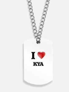 I Love Kya Dog Tags
