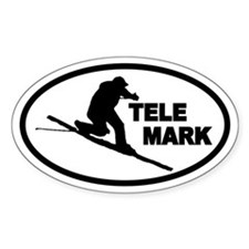 Telemarking Telemarker Oval Decal