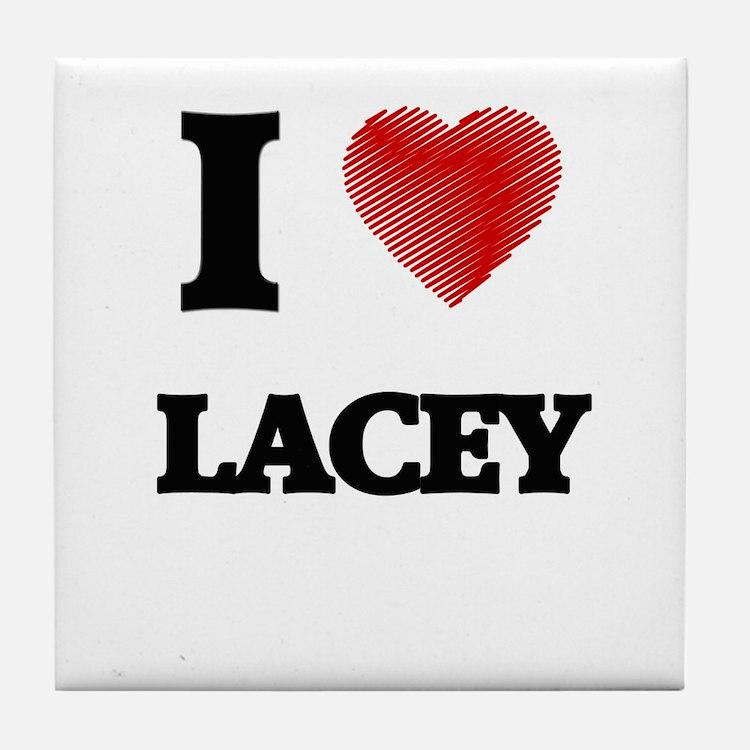 I Love Lacey Tile Coaster