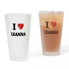 I Love Leanna Drinking Glass