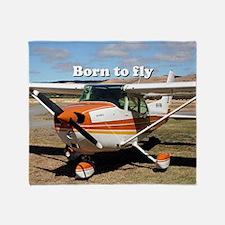Funny Airplane photos Throw Blanket