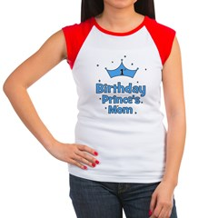 1st Birthday Prince's Mom! Women's Cap Sleeve T-S