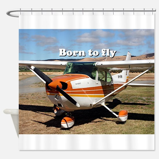 Born to fly: high wing aircraft Shower Curtain