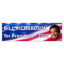 """""""Bill Richardson 2008"""" Bumper Bumper Sticker"""
