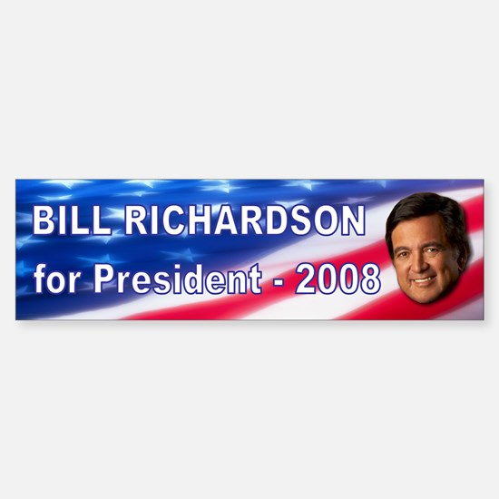 """Bill Richardson 2008"" Bumper Car Car Sticker"