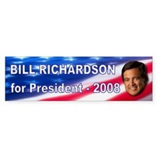 """Bill Richardson 2008"" Bumper Car Sticker"