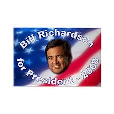 """Bill Richardson 2008"" Rectangle Magnet"