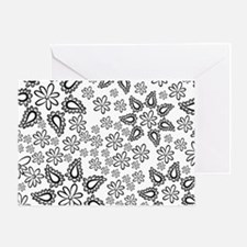 Paisley Flowers Greeting Cards