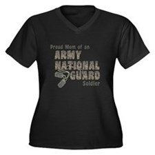 Cute National guard Women's Plus Size V-Neck Dark T-Shirt