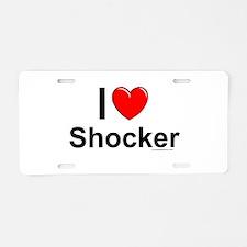 Shocker Aluminum License Plate