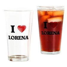 I Love Lorena Drinking Glass