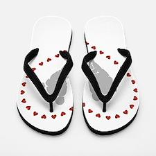 Baby Footprints in Heart of Hearts Flip Flops