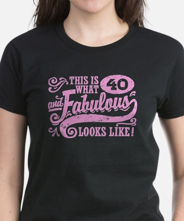 40th Birthday Women's Dark T-Shirt