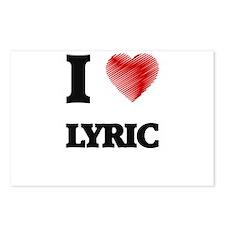 I Love Lyric Postcards (Package of 8)