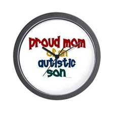 Proud Mom Of Autistic Son 2 Wall Clock