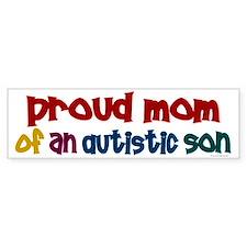 Proud Mom Of Autistic Son 2 Bumper Bumper Stickers