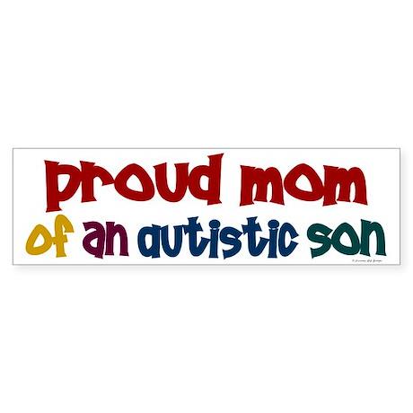 Proud Mom Of Autistic Son 2 Bumper Sticker