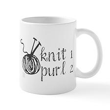 Knit 1 Purl 2 Word Mug Mugs