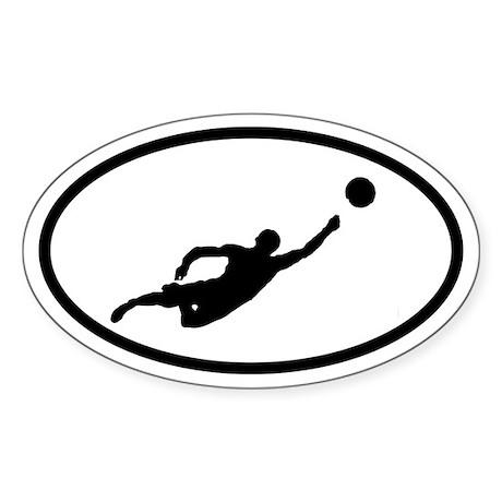 Beach Volleyball Player Oval Sticker