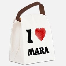 I Love Mara Canvas Lunch Bag