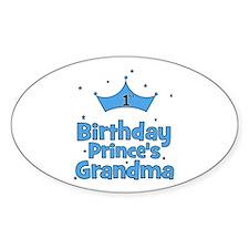 1st Birthday Prince's Grandma Oval Decal