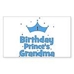 1st Birthday Prince's Grandma Sticker (Rectangular